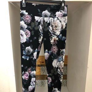Peony floral leggings LIKE NEW